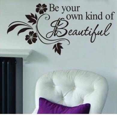 Black Quote Wall Sticker