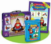 Yogarilla Exercises & Activities Cards - Yoga Card Deck, Body Awareness Cards, & Magnetic Game- Super Duper Educational Learning Toy for Kids