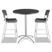Iceberg CafeWorks Bistro Table, Round, 110cm H x 90cm W x 90cm D, Graphite