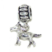 """Jewellery Monster Dangling """"Galloping Pony"""" Charm Bead"""