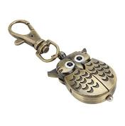 Demarkt Keychain Owl Shape Quartz Watch Key Ring Key Chain