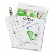 Portable, Swingline GBC SelfSeal Cold Laminating Pouches, Vertical Badge, #3747205 Size