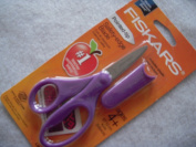 Pointed Tip 13cm Kids Scissors - Purple with Sheath