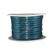 """1/8""""(3mm) Double Faced Satin Ribbon 100 Yards - Teal"""