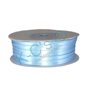 "1/8""(3mm) Double Faced Satin Ribbon 100 Yards - Light Blue"