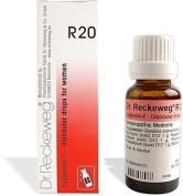 2 LOT X Dr. Reckeweg - Homoeopathic Medicine - R20 Glandular Drops for Women