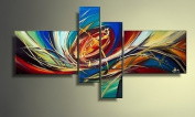 Framed & Stretched!! Modern Abstract Art Hand Painted Canvas Oil Painting for Home Decor