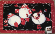 Blonder Home Roly Poly Snowman Bath Rug
