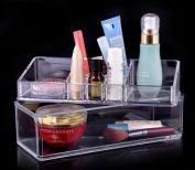 JOVANA Acrylic Cosmetic Organiser Makeup Brushes Lipstick Holder Top and Bottom Set