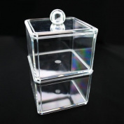JOVANA Luxury Acrylic Cosmetic Organiser cotton ball Holder