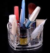 JOVANA Luxury Acrylic Heart Shape Cosmetic Organiser Makeup Brushes Holder Top and Bottom Set