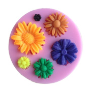 Flower Shaped Chocolate Candy Jello 3d Silicone Mould Soap Mould Cartoon Figre/cake Tools