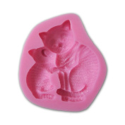 Cat and Cat Mom Shape Fondant 3d Moulds, Silicone Mould ,Soap, Candle Moulds, Sugar Craft Tools, Chocolate Moulds, Bake Ware