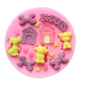 Baking Moulds DOG DOGHOUSE BONE Silicone Mould Fondant Moulds Sugar Craft Tools Chocolate Mould For Cakes