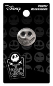 Nightmare Before Christmas Barrel Mask Pewter Lapel Pin
