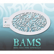 Bad Ass Swirly Hearts Mini Stencil BAM1035