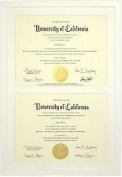 White Wood Stacked Double 11x8½ Certificate frame by Dennis Daniels - 8.5x11