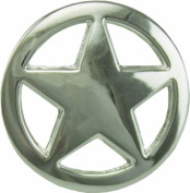 Springfield Leather Company 1.9cm Polished Silver Ranger Style Star Concho