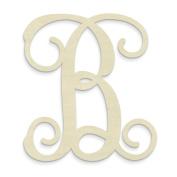 """UNFINISHEDWOODCO Single Vine Monogram Unfinished Letter, 50cm , Letter """"B"""""""