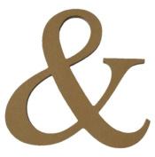 25cm Unfinished Wooden Ampersand ( & ) Letter