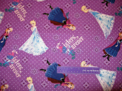 110cm Wide Disney Frozen Sisters Cotton Fabric BY THE HALF YARD