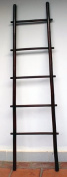 1.5m Bamboo Ladder Rack, rosewood stain