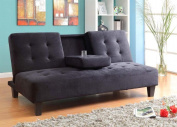 Milton Greens Stars 7501BK Madrid Futon Sofa Bed with Cup Holder, Black
