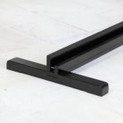 Shoji Room Divider Stand Size-Colour - Accomodates 3 panel room divider - Black