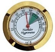Prestige Import Group HYB134 Hygrometer with Gold Frame and Glass Face, 4.4cm