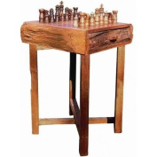 Hill Country Chess Table (Brown)