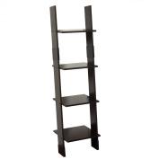 Zenith Products 9437CH 4-Shelf Wood Ladder Linen Tower, Espresso