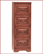 Country Cherry File Cabinet w Four Drawers