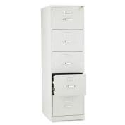 HON 5 Drawer Filing Cabinet - 310 Series Full-Suspension Legal File Cabinet, 70cm Drawers, Light Grey