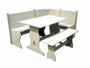 TMS 3-Piece Nook Dining Set, Antique White