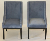 Set of 2 Contemporary Microfiber Mordern Sofa Chair Sofa Arm Chairs Home Life