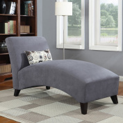Handy Living 340CL-AAA16-084 Microfiber Chaise, Grey