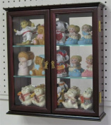 Wall Mounted Curio Cabinet / Wall Display Case Shadow Box with glass door, Solid wood, CD05C-MA