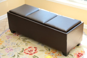 Designs-4-Comfort Tribeca Ottoman with 3 Tray Tops