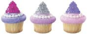 PRINCESS Tiara CROWNS Pink Purple Silver 12 Cupcake Cake Pop PARTY Favour RINGS