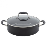 Anolon 83488 Advanced Hard Anodized Nonstick Covered Braiser with Rack, 5.2l