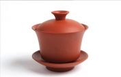 Yixing Large Size Purple Clay Gaiwan Tureen Sancai Cup Kungfu Tea Set