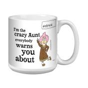 Tree-Free Greetings XM27763 Aunty Acid Artful Jumbo Mug, 590ml, Crazy Aunt