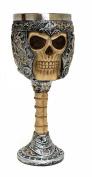 Ossuary Style Skeletal Skull Wine Goblet Bones Skull Armour Cup - Orcskull Cup
