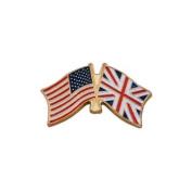 USA Flag and UK Flag Lapel Pin