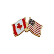 US Flag Store Canada Flag - Left - and USA Flag - Right - Lapel Pin