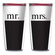 Mr. and Mrs. 470ml Signature Tumblers - Great for Wedding and Anniversary Gifts