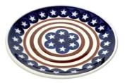 Polish Pottery Stars & Stripes Dessert Plate