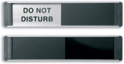 Stewart Superior Sliding Door Sign Do Not Disturb W255xH52mm Aluminium anmd PVC Ref BA104