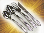 "40 Sets - Plastic Silverware, ""Looks Like Silver"" Heavyweight Disposable Flatware"