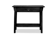 Leick Mission Console Table/Hall Stand, Slate Black